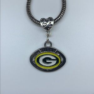 Green Bay packers football European charm pendant